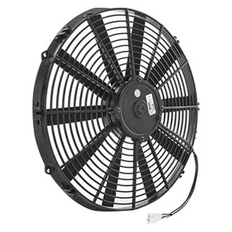 "Be Cool® - 16"" Euro Black Medium Profile Electric Puller Fan"