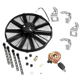 "Be Cool® - 16"" Euro Black Medium Profile Fan Module"