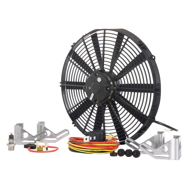 "Be Cool® - 16"" Chrome Plated High Torque Show & Go Fan Module"