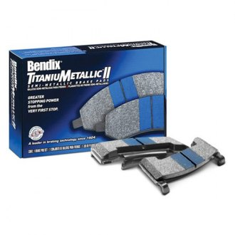 Bendix® - TitaniuMetallic™ II Integrally Molded Semi-Metallic Front Brake Pads