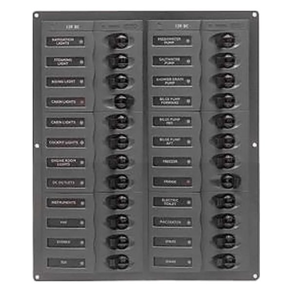 BEP® - 24 Way Vertical DC Circuit Breaker Panel