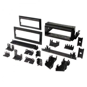 "Best Kits® - Single DIN Black Stereo Dash Kit with Brackets and Flat, 1/2"" and 1"" Trim Plates"