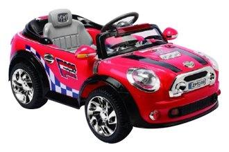 best ride on cars 12v little kids red chrome lights cooper