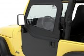 Bestop® - HighRock 4x4™ Element™ Doors Fabric Upper Half-Door Set (Black Denim)