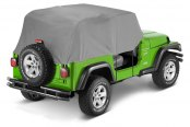 Image may not reflect your exact vehicle! Bestop® - Charcoal/Gray All-Weather Trail Cover