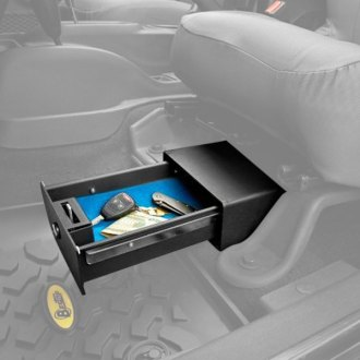 Bestop® - Black Driver Side Underseat Lock Box