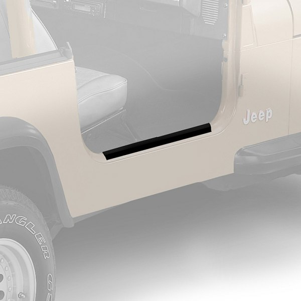 Bestop Powerboard Automatic Running Boards For Dodge Ram: HighRock 4x4™ Black Door Sill Entry Guards