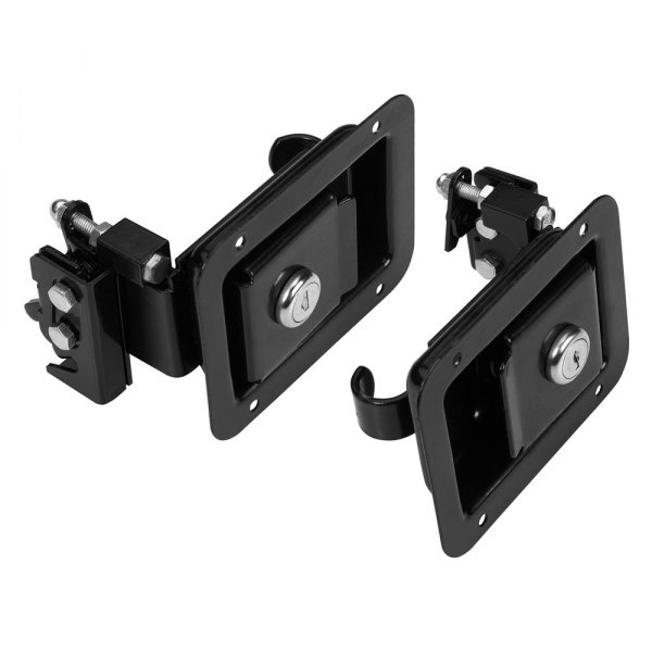 Bestop® - Black Rotary Type Paddle Style Door Handle Latches Kit