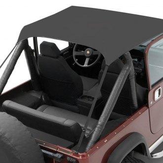 1974 Jeep Cj5 Soft Top - Bestop Traditional Style Bikini Top - 1974 Jeep Cj5 Soft Top