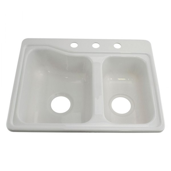 Better bath 209694 13 x 15 white double kitchen for The galley sink price