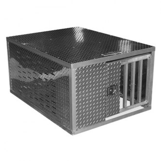 "Better Built® - Crown Series 36"" Uncoated Aluminum Dog Box"