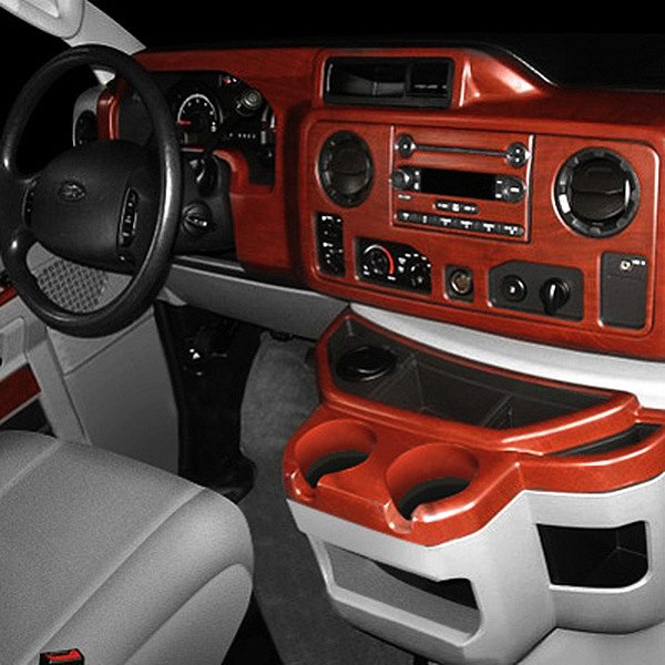 B&I® - Ford Econoline 3D Molded Dash Kit in Matted Mahogany