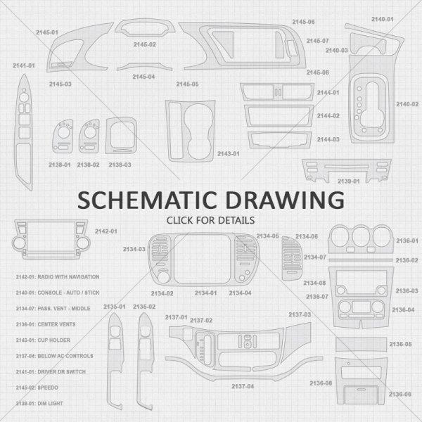 B&I® 3D007E1-DSG - 3D Bordeaux Birdseye Steering Wheel Spoke Cover Upgrade  Kit (2 Pcs)