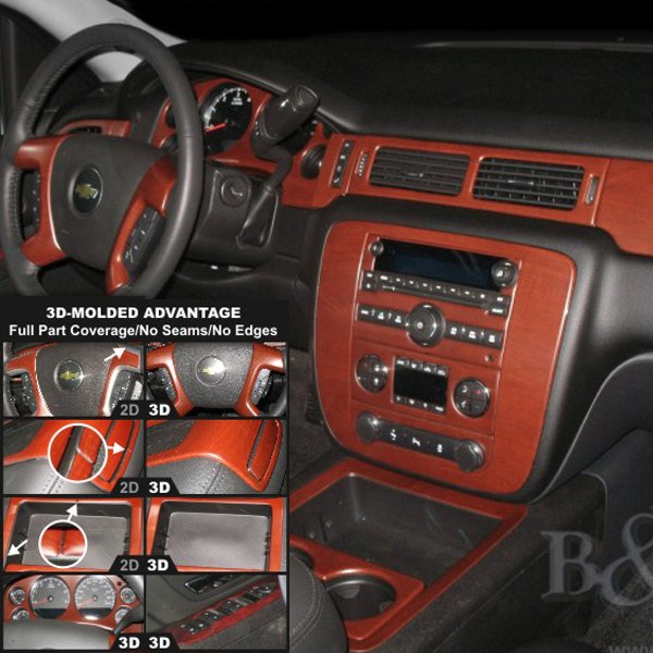 Chevy Avalanche 2010 3D Molded Small Dash Kit