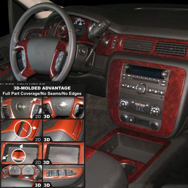 Chevy Avalanche 2010-2013 3D Molded Large Dash Kit