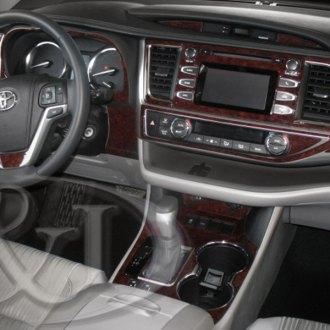 2016 toyota highlander carbon fiber dash kits interior trim. Black Bedroom Furniture Sets. Home Design Ideas