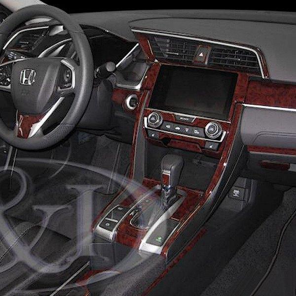 "2017 2019 Honda Civic Coupe Chrome Delete Kit: Honda Civic Radio With 7"" Display 2017 2D Large"