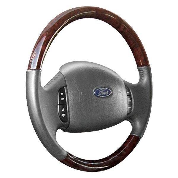 B&I® - Premium Design Steering Wheel ( Medium Prairie (Tan) Leather and Red Fiber Grip )