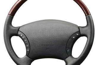 Image may not reflect your exact vehicle or part! B&I® - Premium Design Steering Wheel ( Tan Leather and Factory Match - OEM Grip )