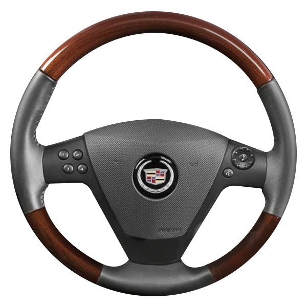 B&I® - Premium Design Steering Wheel ( Earth Leather and Factory Match (Zebrano) Grip )