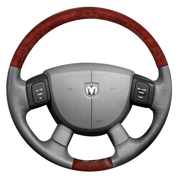 Image may not reflect your exact vehicle or part! B&I® - Premium Design Steering Wheel ( Charcoal Black Leather and Factory Match Durango - OEM Grip )