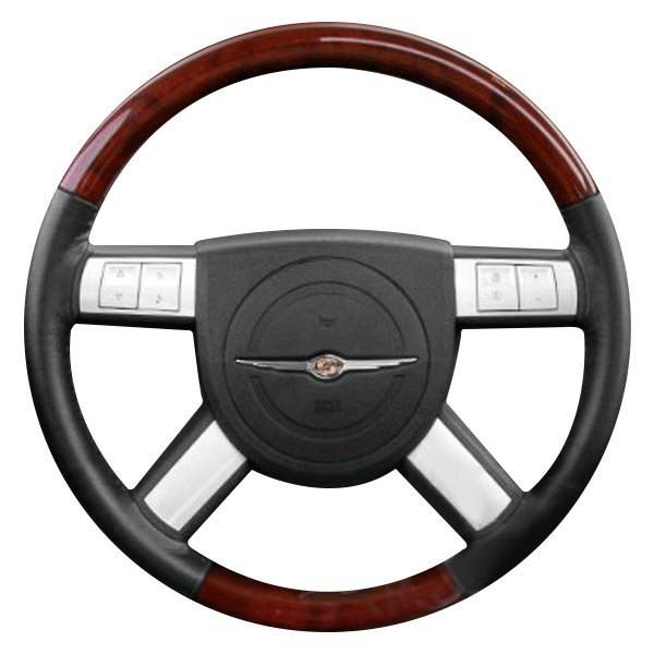 B&I® - Premium Design Steering Wheel ( Charcoal Black Leather and Factory Match - OEM Grip )