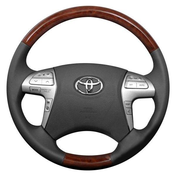 B I Premium Design Steering Wheel Black Leather And Factory Match Highlander 2008