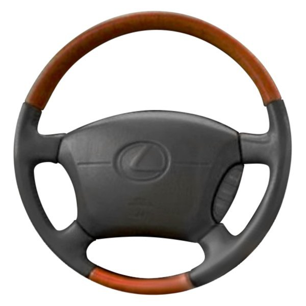 B&I® - Premium Design Steering Wheel ( Tan Leather and Platinum Silver Grip )