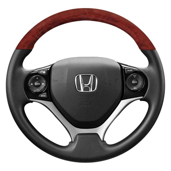 B&I® - Premium Design Steering Wheel ( Black Leather and Black Carbon on Top )
