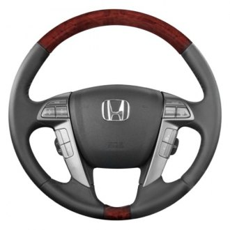 B&I® - Premium Design 4 Spokes Steering Wheel with Insert on Top and Bottom