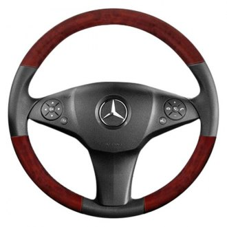 B&I® - Premium Design 3 Spokes Steering Wheel with on Top and Bottom Inserts
