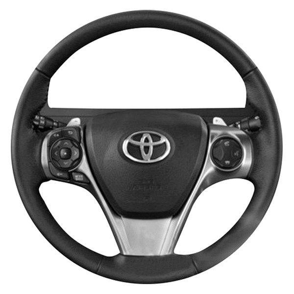 b\u0026i® toyota camry 2014 premium design 3 spokes steering wheelb\u0026i® premium design 3 spokes steering wheel ( charcoal black leather and platinum silver