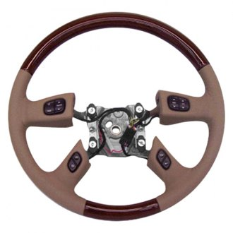 B&I® - Premium Design Steering Wheel (Charcoal Black Leather and Factory Match Escalade-OEM Grip)