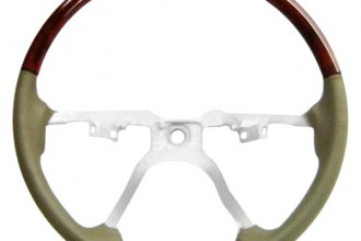 B&I® - Steering Wheel with Light Brown Leather