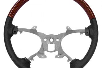 B&I® - Steering Wheel with Titanium Light Grey Leather