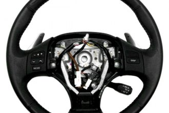 B&I® - Steering Wheel with Piano Black Inserts and Black Leather