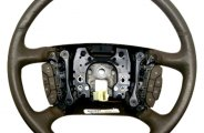B&I® - Steering Wheel with Factory Match - DTS-Dark Burl Inserts and Earth Leather