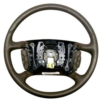 B&I® - Premium Design Steering Wheel (Cashmere Brown Leather and Platinum Silver Grip)