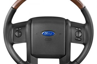 B&I® AW1161L009-SDE - Premium Design Steering Wheel (Black Leather and Blackwood Grip)