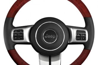 B&I® - Steering Wheel with Platinum Silver Inserts and Black Leather