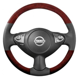 B&I® - Premium Design Steering Wheel with Woodgrain on Top and Bottom