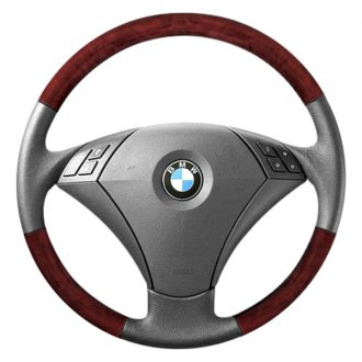 B&I® - Premium Design 3 Spokes Steering Wheel with Insert on Top and Bottom