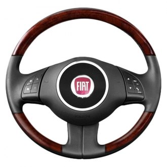 B&I® - Premium Design Steering Wheel (Charcoal Black Leather and Matted Mahogany Grip)
