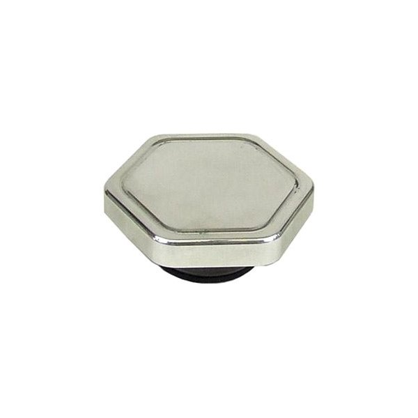 Big end performance polished hexagon radiator cap