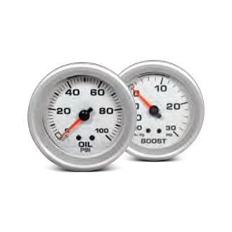 "Big End Performance® - 2-5/8"" In-Dash White Gauges"