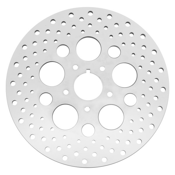 Biker's Choice® - Drilled Stainless Steel Brake Rotor