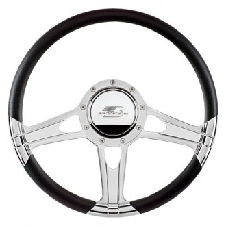 "Billet Specialties® - 14"" Select Edition Series Impact Style Steering Wheel with Polished Spokes"