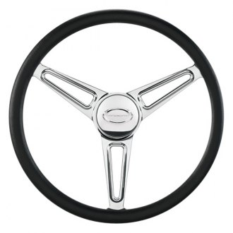 "Billet Specialties® - 14"" Flat Out Series Polished Spokes LSR Style Steering Wheel"