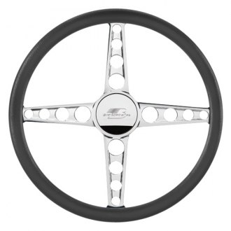 "Billet Specialties® - 14"" Flat Out Series Polished Spokes Sprint Style Steering Wheel"