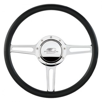 "Billet Specialties® - 14"" Standard Series Split Spoke Style Steering Wheel with Polished Spokes"